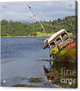 Old Boat In The Loch  Acrylic Print