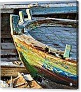 Old Boat - Lebanese Artist Zaher El- Bizri Acrylic Print