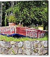 Old Boat Planter Acrylic Print