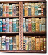 Old Books In Prague Acrylic Print by Matthias Hauser