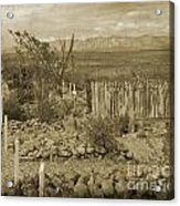 Old Boothill Cemetery Acrylic Print