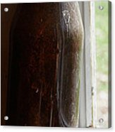 Old Bottle In The Window Acrylic Print