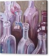 Old Bottles Acrylic Print by Kathy Weidner