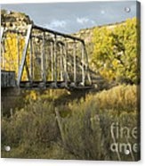 Old Bridge At La Boca Acrylic Print
