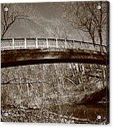 Old Bridge In Autumn Acrylic Print