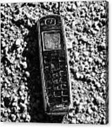 Old Broken Smashed Thrown Away Cheap Cordless Phone Usa Acrylic Print