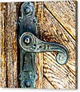 Old Bronze Church Door Handle Acrylic Print