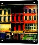 Old Buildings 6th Avenue - Vintage Nyc Architecture Acrylic Print