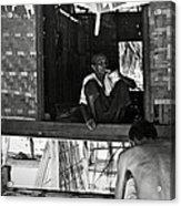 Old Burmese Smoker Woman Acrylic Print
