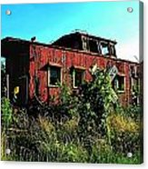 Old Caboose Acrylic Print by Julie Dant