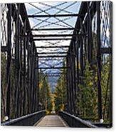 Old Canmore Railroad Bridge Acrylic Print
