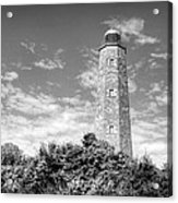 Old Cape Henry In Black And White Acrylic Print