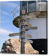 Old Cape Point Lighthouse In South Africa Acrylic Print