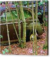 Old Car In The Woods Acrylic Print