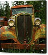 Old Cars Left To Decorate The Weeds Acrylic Print