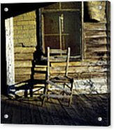Old Chair On Old Porch Acrylic Print