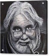 Old Character Acrylic Print by David Hawkes