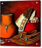 Old Cherokee Moccasins Acrylic Print