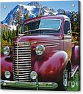 Old Chevy Pickup Ca5073-14 Acrylic Print