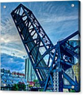 Old Chicago Draw Bridge Acrylic Print