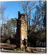 Old Chimney Still Standing Acrylic Print