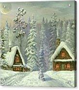Old Christmas Card Acrylic Print
