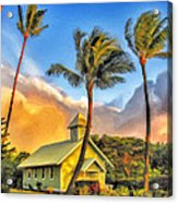 Old Church At Honokawai Maui Acrylic Print