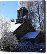 Old Church In Ice Acrylic Print