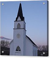 Old Church Acrylic Print by Yvette Pichette