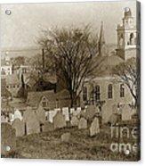 Old Church's Cemetery Graveyard Boston Massachusetts Circa 1900 Acrylic Print