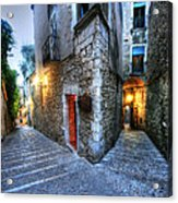 Old City Girona Acrylic Print by Isaac Silman