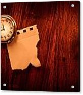Old Clock Note Acrylic Print