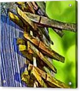 Old Clothes Pins II - Digital Paint Acrylic Print