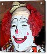 Old Clown Backstage Acrylic Print