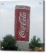 Old Coke Silo Acrylic Print