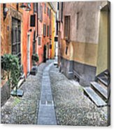Old Colorful Stone Alley Acrylic Print