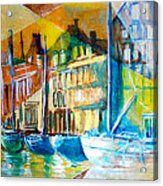 Old Copenhagen Thru Stained Glass Acrylic Print