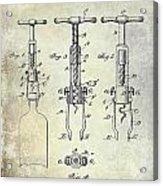 Corkscrew Patent Acrylic Print