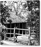 Old Corral And Barn Acrylic Print