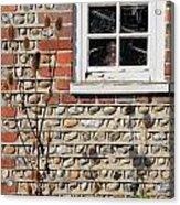 Old Cottage Window Sussex Uk Acrylic Print