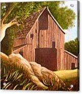 Old Country Barn Acrylic Print by Janis  Tafoya