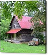 Old Country Cabin Acrylic Print by Bob Jackson