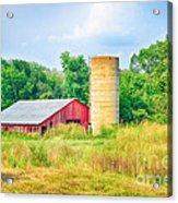 Old Country Farm And Barn Acrylic Print