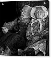 Old Couple Mannequins In Shop Window Display Acrylic Print