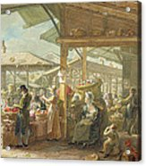 Old Covent Garden Market Acrylic Print by George the Elder Scharf