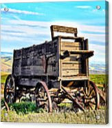 Old Covered Wagon Acrylic Print