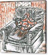 Old Cozy Chair Acrylic Print