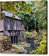 Old Creek Grist Mill In Autumn Acrylic Print