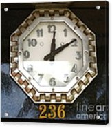Old Decco Store Clock At 236 Worth Ave Palm Beach Fl Acrylic Print