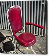 Old Dentist Chair Acrylic Print